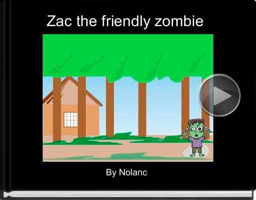 Book titled 'Zac the friendly zombie'