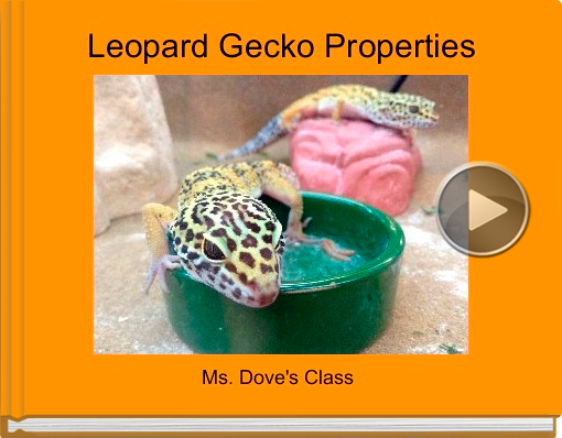 Book titled 'Leopard Gecko Properties'