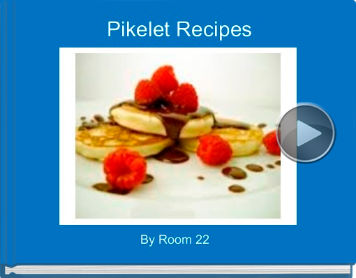 Book titled 'Pikelet Recipes'