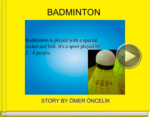 Book titled 'BADMINTON'