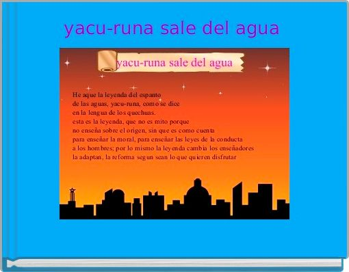 yacu-runa sale del agua