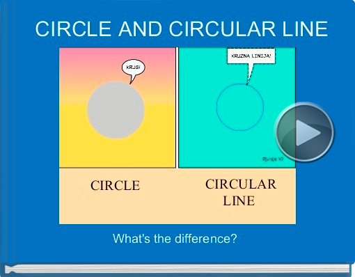 Book titled 'CIRCLE AND CIRCULAR LINE'