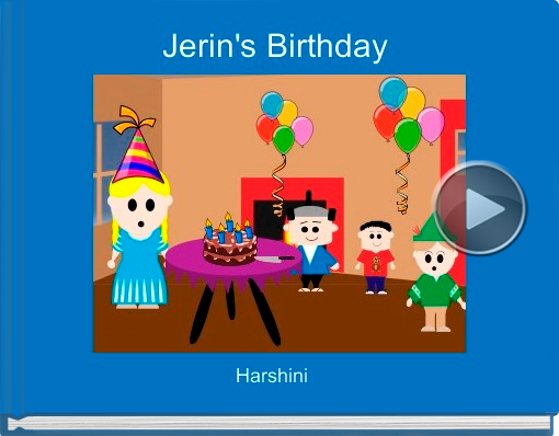 Book titled 'Jerin's Birthday'