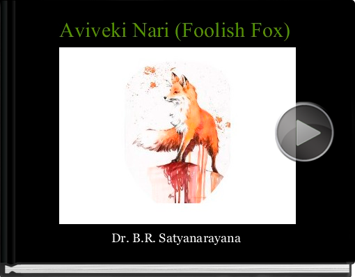 Book titled 'Aviveki Nari (Foolish Fox)'