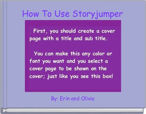 How To Use Storyjumper