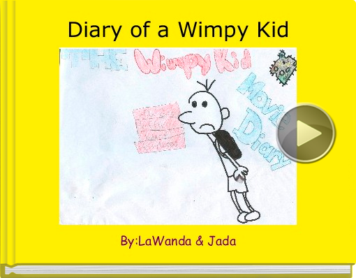 Book titled 'Diary of a Wimpy Kid'