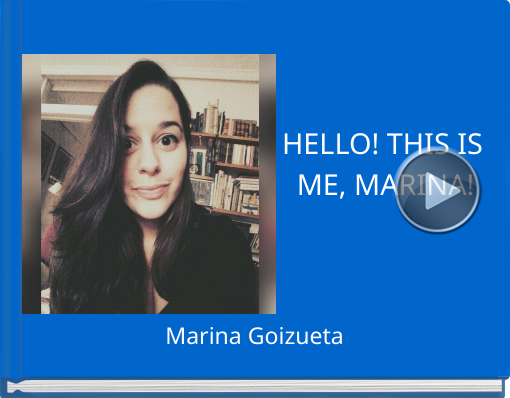 Book titled 'HELLO! THIS IS ME, MARINA!'