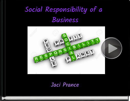 Book titled 'Social Responsibility of a Business'