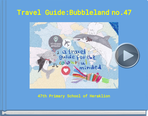 Book titled 'Travel Guide:Bubbleland no.47'