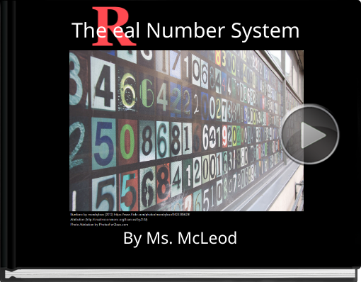 Book titled 'The         eal Number System'