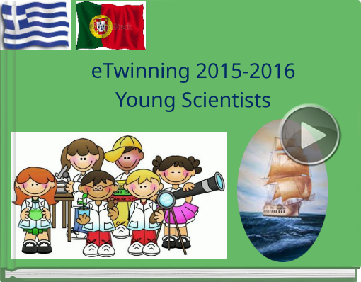 Book titled 'eTwinning 2015-2016Young Scientists '