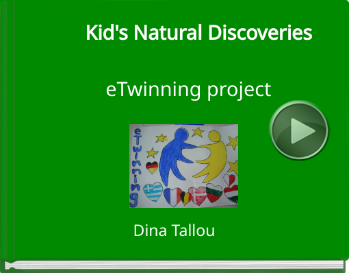 Book titled 'Kid's Natural DiscoverieseTwinning project'