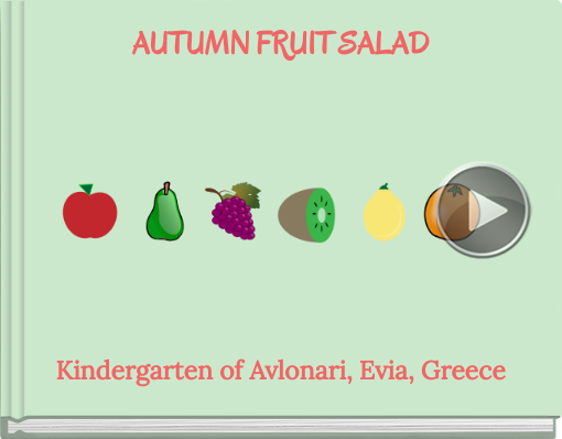 Book titled 'AUTUMN FRUIT SALAD'