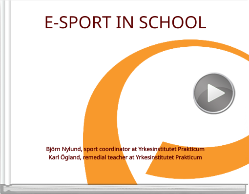 Book titled 'E-SPORT IN SCHOOL'