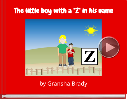 Book titled 'The little boy with a 'Z' in his name'