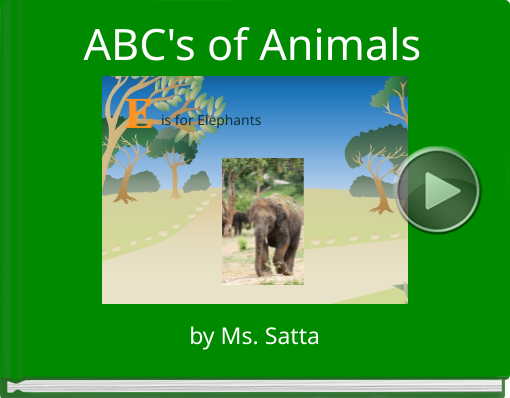 Book titled 'ABC's of Animals'