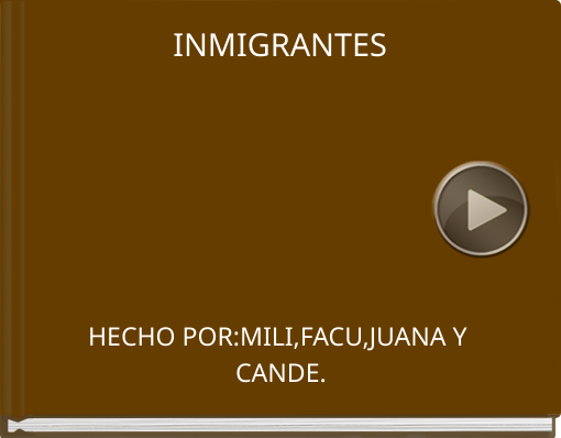 Book titled 'INMIGRANTES'