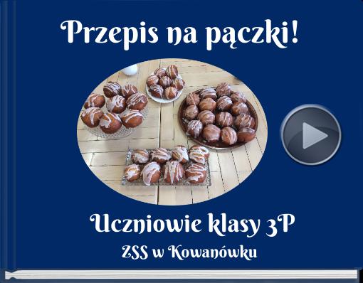 Book titled 'Przepis na pączki!'