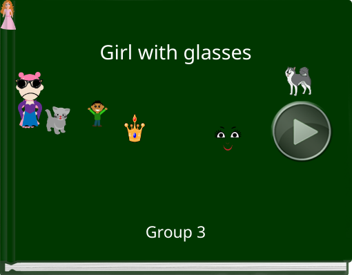 Book titled 'Girl with glasses'
