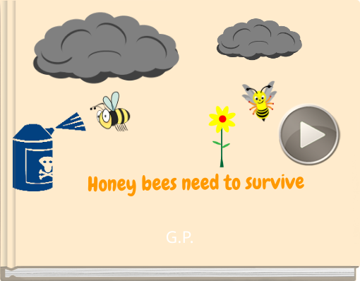 Book titled 'Honey bees need to survive'