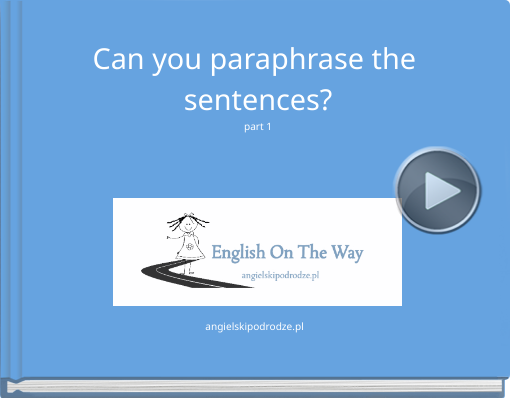 Book titled 'Can you paraphrase the sentences?part 1'