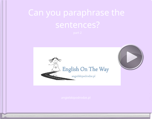 Book titled 'Can you paraphrase the sentences?part 2'