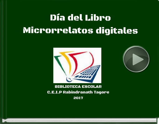 Book titled 'Día del LibroMicrorrelatos digitales'