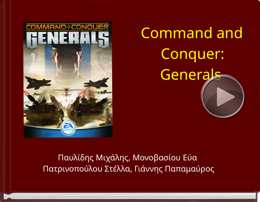 Book titled 'Command and Conquer:Generals'