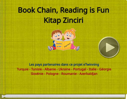 Book titled 'Book Chain, Reading is FunKitap Zinciri'