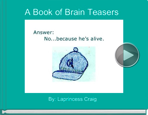Book titled 'A Book of Brain Teasers'