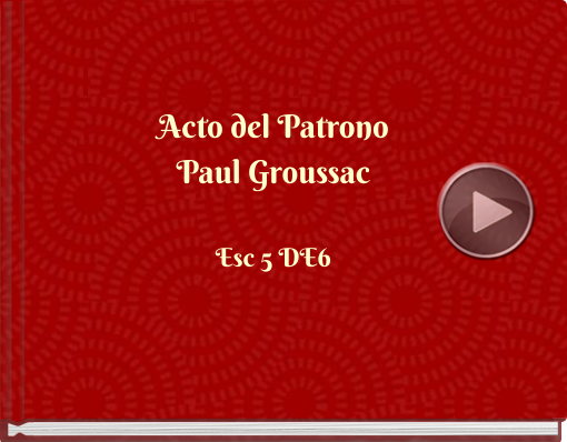 Book titled 'Acto del PatronoPaul Groussac'