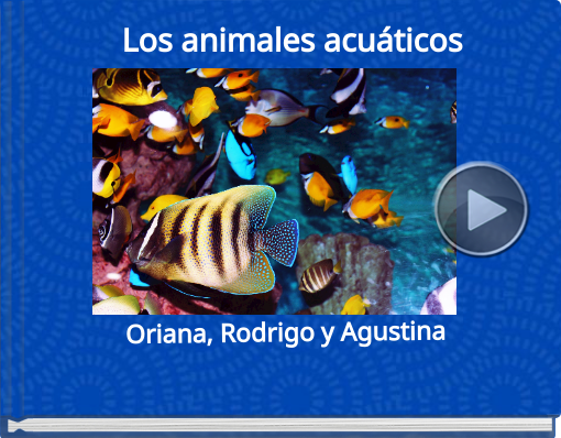 Book titled 'Los   animales acuáticos'