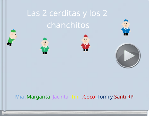 Book titled 'Las 2 cerditas y los 2 chanchitos'