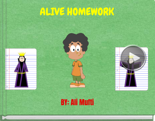 Book titled 'ALIVE HOMEWORK'