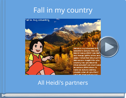 Book titled 'Fall in my country'