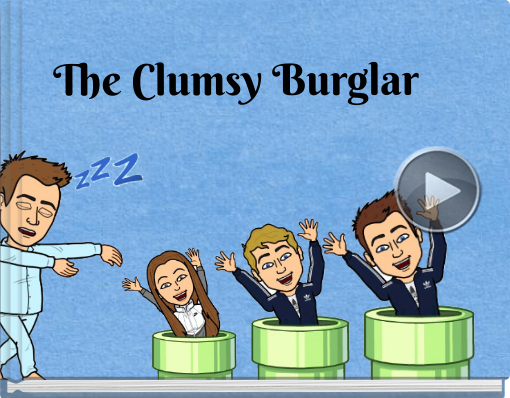Book titled 'The Clumsy Burglar'