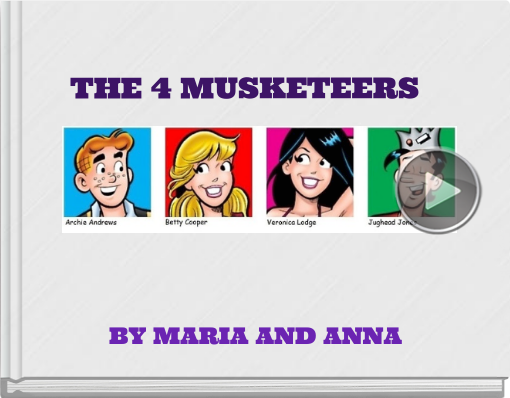 Book titled 'THE 4 MUSKETEERS'