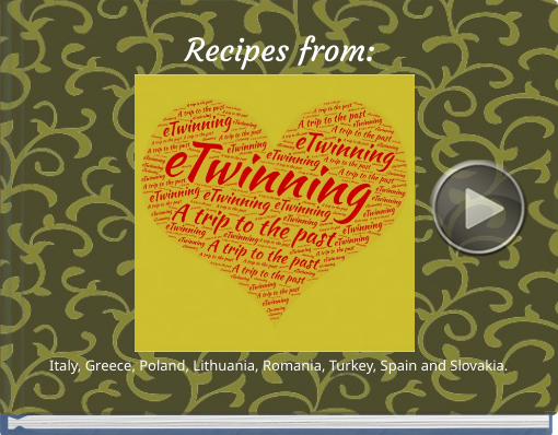 Book titled 'Recipes from:'