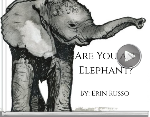 Book titled 'Are You an Elephant?'