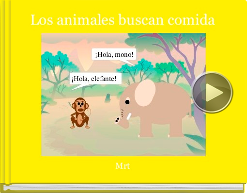 Book titled 'Los animales buscan comida'