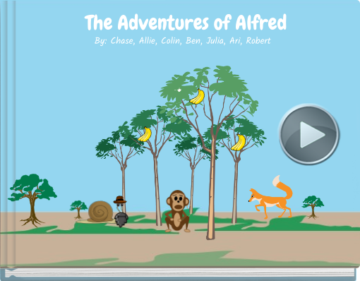 Book titled 'The Adventures of Alfred'