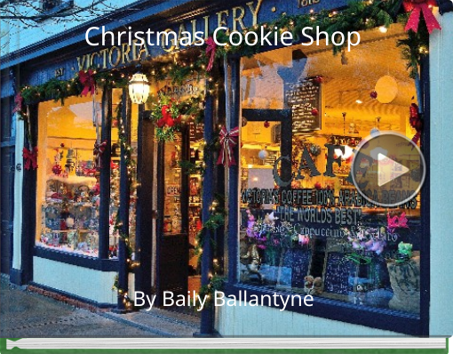 Book titled 'Christmas Cookie Shop'
