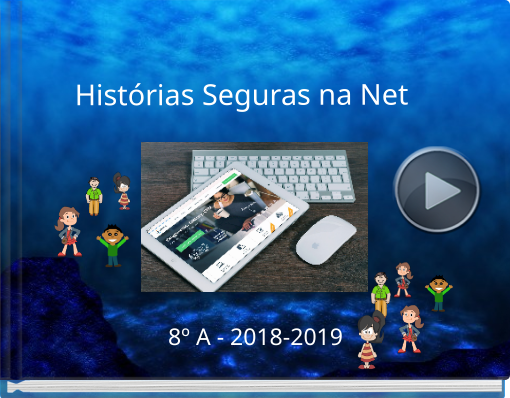 Book titled 'Histórias Seguras na Net'