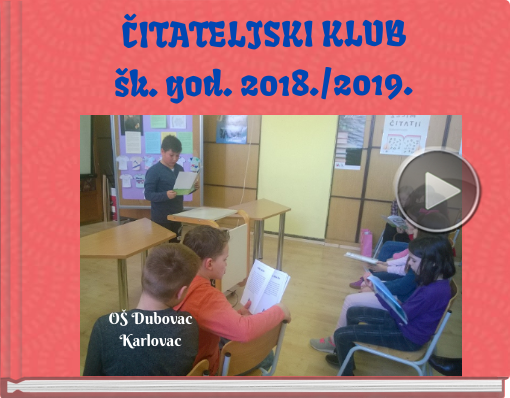 Book titled 'ČITATELJSKI KLUBšk. god. 2018./2019.'