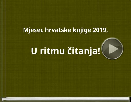Book titled 'Mjesec hrvatske knjige 2019.U ritmu čitanja!'