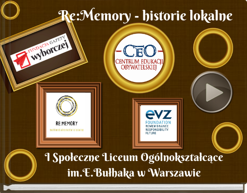 Book titled 'Re:Memory - historie lokalne'