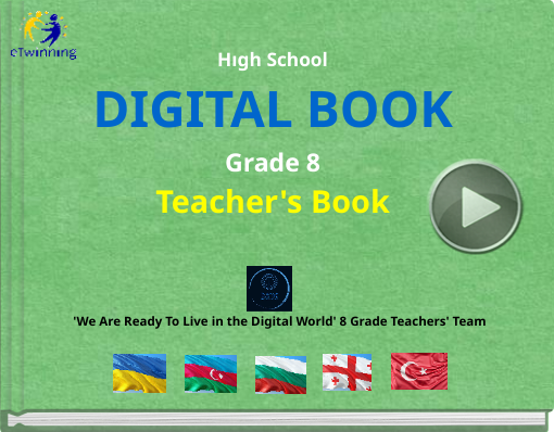 Book titled 'Hıgh SchoolDIGITAL BOOKGrade 8Teacher's Book'