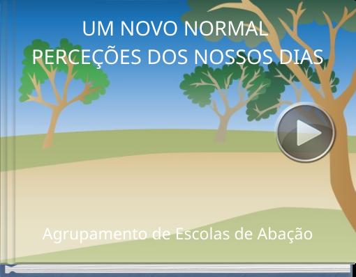 Book titled 'UM NOVO NORMALPERCEÇÕES DOS NOSSOS DIAS'
