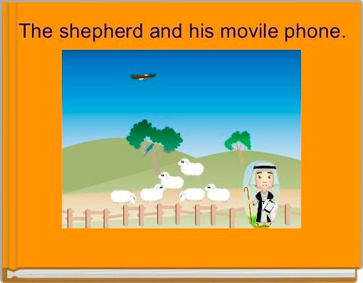 The shepherd and his movile phone.