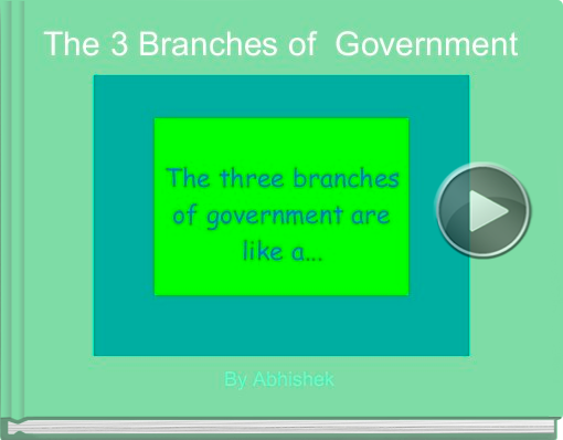 Book titled 'The 3 Branches of  Government'